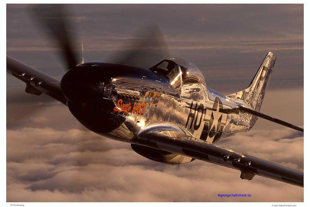 P-51D Mustang, air-to-air close up
