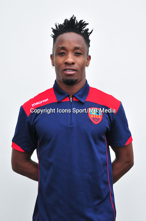 John Tshibumbu Lungeny - 24.10.2014 - Portrait Gazelec Ajaccio - Ligue 2 -<br /> Photo : Philippe Le Brech / Icon Sport