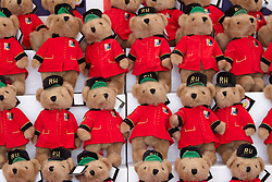 © licensed to London News Pictures. LONDON, UK  23/05/2011. Chelsea pensioner teddy bears for sale at £12   at the 2011 RHS Chelsea Flower Show. The show held each year in the grounds of the Royal Chelsea Hospital and organised by the Royal Horticultural society opens to the general public tomorrow and is already sold out. Please see special instructions for usage rates. Photo credit should read CLIFF HIDE/LNP