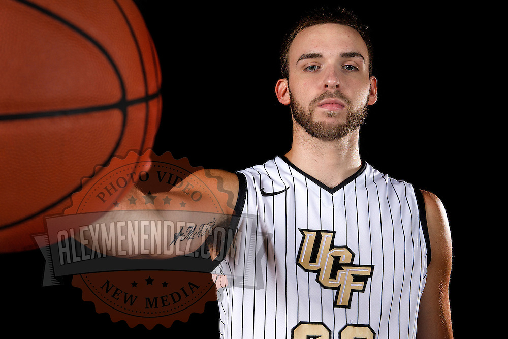 Forward Kasey Wilson poses during the Knights media day event at the University of Central Florida CFE Arena on Monday, October 7, 2013 in Orlando, Florida. (AP Photo/Alex Menendez)
