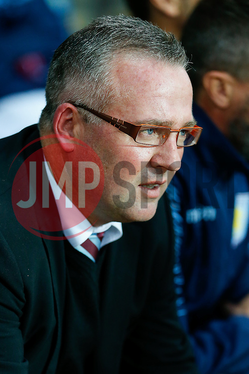 Aston Villa Manager Paul Lambert looks on before the match - Photo mandatory by-line: Rogan Thomson/JMP - 07966 386802 - 27/08/2014 - SPORT - FOOTBALL - Villa Park, Birmingham - Aston Villa v Leyton Orient - Capital One Cup Round 2.