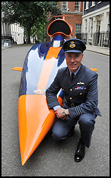 Commander Andy Green with  The British Bloodhound Super Sonic Car<br /> 10 Downing Street, London, United Kingdom. As the Prime Minister to announces initiative to create 100,000 Engineering Technicians.<br /> Monday, 24th June 2013<br /> Picture by Andrew Parsons / i-Images