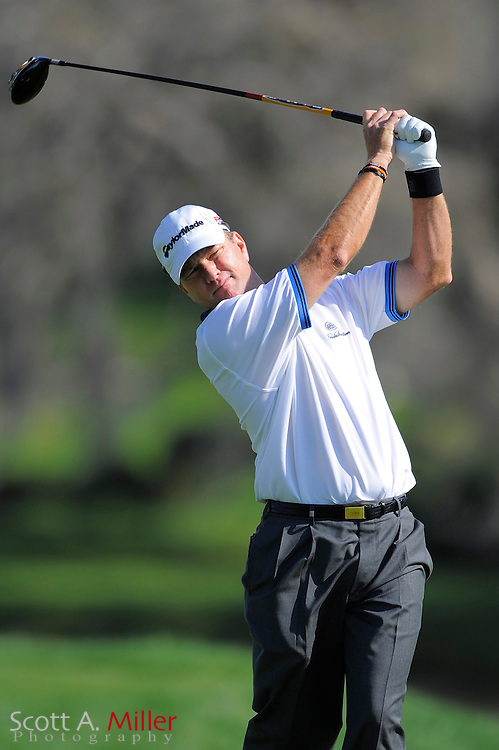 March 26, 2009; Orlando, FL, USA; Scott Verplank tees off on the 15th hole during the first round of the Arnold Palmer Invitational at the Bay Hill Club and Lodge. ©2009 Scott A. Miller