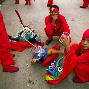 DANCING DEVILS OF YARE / LOS DIABLOS DE YARE<br /> Photography by Aaron Sosa<br /> Yare, Miranda State - Venezuela 2005<br /> (Copyright © Aaron Sosa)