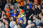 The Oldham fans look downhearted during the EFL Sky Bet League 1 match between Northampton Town and Oldham Athletic at Sixfields Stadium, Northampton, England on 5 May 2018. Picture by Dennis Goodwin.