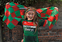 Young Mayo fan Ciara Gravin from Westport at the All Ireland Football Final.<br /> Pic Conor McKeown