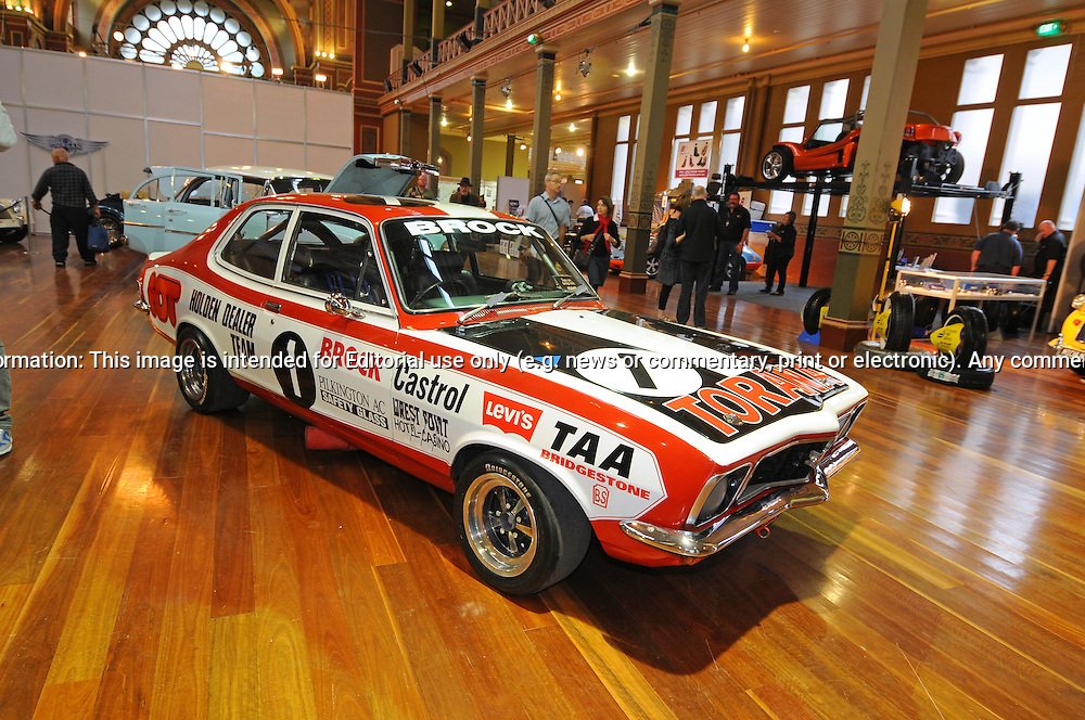 1973 Holden Brock HDT LJ GTR XVI Torana.RACV Motorclassica.The Australian International Concours d'Elegance & Classic Motor Show.Royal Exhibition Building .Carlton, Melbourne, Victoria.October 22nd 2011.(C) Joel Strickland Photographics.Use information: This image is intended for Editorial use only (e.g. news or commentary, print or electronic). Any commercial or promotional use requires additional clearance.