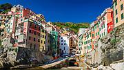 Colorful houses in Riomaggiore, Cinque Terre, Liguria, Italy