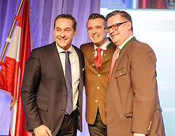 04.03.2017, AUT, FPÖ, 32. Ordentlicher Bundesparteitag, im Bild v.l.n.r. Bundesparteiobmann Heinz Christian Strache, Landesparteiobmann Gernot Darmann und Klubobmann Christian Leyroutz // at the 32nd Ordinary Party Convention of the Freiheitliche Partei Oesterreich (FPÖ) in Klagenfurt, Austria on 2017/03/04. EXPA Pictures © 2017, PhotoCredit: EXPA/ Wolgang Jannach