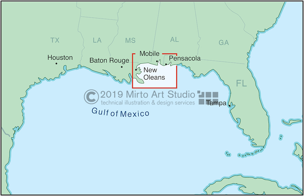 Biloxi Mississippi Mirto Art Studio