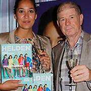 NLD/Ridderkerk/20120911 - Presentatie magazine Helden, Ranomi Kromowidjojo,  en Frits Barend met het magazine