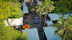 Vista aérea da Praça da Alfândega onde acontece a Feira do Livro de Porto Alegre. FOTO: Jefferson Bernardes/ Agência Preview