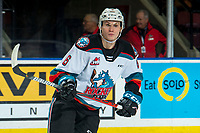 KELOWNA, BC - DECEMBER 30:  Kaedan Korczak #6 of the Kelowna Rockets skates against the Prince George Cougars at Prospera Place on December 30, 2019 in Kelowna, Canada. Korczak was selected in the 2019 NHL entry draft by the Vegas Golden Knights. (Photo by Marissa Baecker/Shoot the Breeze)