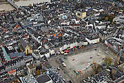 Nederland, Limburg, Maastricht, 15-11-2010;.Vrijthof in het centrum van Maastricht. Linksboven de Sint Servaasbrug..luchtfoto (toeslag), aerial photo (additional fee required).foto/photo Siebe Swart