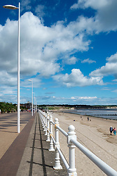 The Promanade and North Beach in the sea side town of Bridlington West Yorkshire England<br /> <br />  4 August 2016<br />  Copyright Paul David Drabble<br />  www.pauldaviddrabble.photoshelter.com