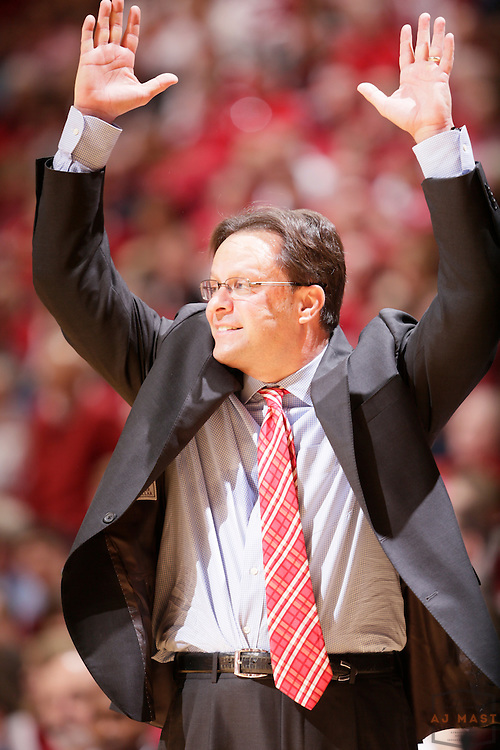 16 February 2013: Indiana head coach Tom Crean as the Indiana Hoosiers played the Purdue Boilermakers in a college basketball game in Bloomington, Ind.