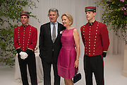 CARLA BAMBERGER; ARNAUD BAMBERGER, The Cartier Chelsea Flower show dinner. Hurlingham club, London. 20 May 2013.