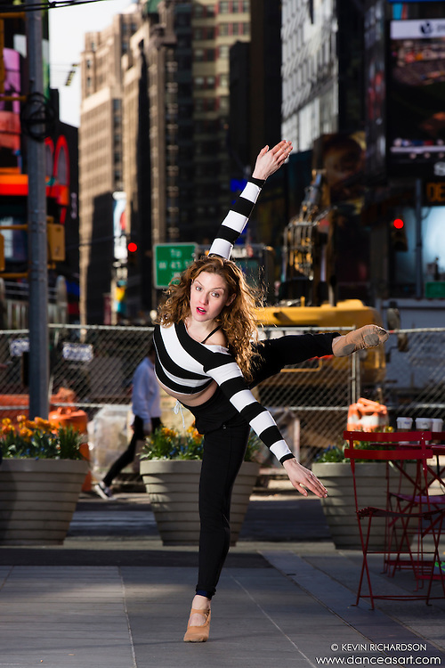 Times Square Dance As Art- The New York City Photography Project with dancer Ashley Whitson