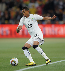 Kevin Prince BOATENG (Ghana)  am Ball during the 2010 FIFA World Cup South Africa Group D match between Ghana and Germany at Soccer City Stadium on June 23, 2010 in Johannesburg, South Africa.