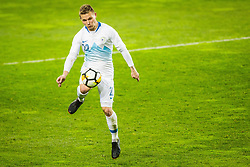 Martin Milec of Slovenia during friendly football match between National teams of Slovenia and Belarus, on March 27, 2018 in SRC Stozice, Ljubljana, Slovenia. Photo by Vid Ponikvar / Sportida