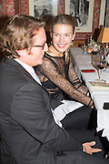 INDRE SERPYTYTE; Charles Finch and  Jay Jopling host dinner in celebration of Frieze Art Fair at the Birley Group's Harry's Bar. London. 10 October 2012.