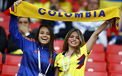 July 3, 2018 - Moscow, Russia - Round of 16 England v Colombia - FIFA World Cup Russia 2018.Colombia supporters at Spartak Stadium in Moscow, Russia on July 3, 2018. (Credit Image: © Matteo Ciambelli/NurPhoto via ZUMA Press)