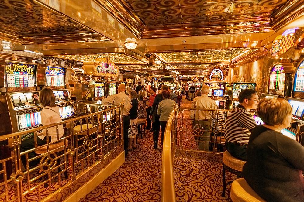 Cruise ship casino.