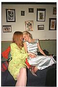 Rebecca Evans and Laura Bailey.Miramax post Bafta's party. Noble Rot. 9 April 2000. © Copyright Photograph by Dafydd Jones 66 Stockwell Park Rd. London SW9 0DA Tel 020 7733 0108 www.dafjones.com