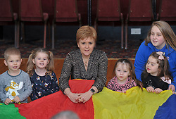 SNP leader and First Minister Nicola Sturgeon met and played with children from Blossom Tree Children's Nursery in Gilmerton in Edinburgh South one of the SNP's target seats.<br /> <br /> © Dave Johnston / EEm