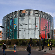 China Mobile - Huawei P30 Pro ad at the BFI - IMax, London, UK