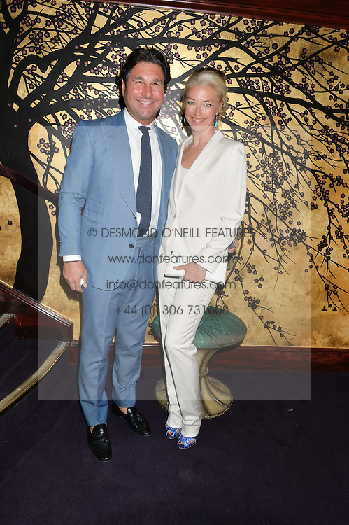 TAMARA BECKWITH and GIORGIO VERONI at a party to celebrate the launch of the Dee Ocleppo 2015 Pre Fall Collection benefiting the Walkabout Foundation held at Loulou's, 5 Hertford Street, London on 16th June 2015.
