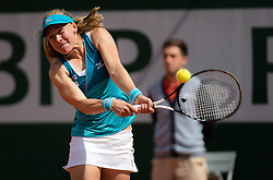 May 29, 2019 - Paris, FRANCE - Johanna Larsson of Sweden in action during her second-round match at the 2019 Roland Garros Grand Slam tennis tournament (Credit Image: © AFP7 via ZUMA Wire)