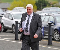 Pictured: Gordon Jackson QC arrives at the inquiry.<br /> <br /> The long awaited Fatal Accident Inquiry into the 2013 accident, where a police helicopter crashed into the Clutha Bar in Glasgow, killing all three helicopter crew and seven customers in the bar, opened at Hamden Park in front of Sheriff Principal Craig Turnbull.<br /> <br /> © Dave Johnston / EEm