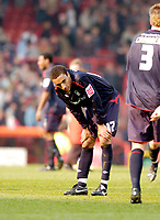 Photo: Leigh Quinnell.<br /> Bristol City v Nottingham Forest. Coca Cola League 1. 31/03/2007. Forests James Perch unhappy with the draw.