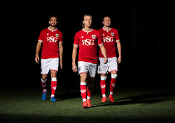 Bristol City's Derrick Williams, Bristol City's Luke Freeman and Bristol City's Luke Ayling  - Photo mandatory by-line: Joe Meredith/JMP - Mobile: 07966 386802 - 28/04/2015 - SPORT - Football - Bristol - SGS Wise Campus