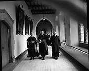 Bishops Meeting at Maynooth..09.03.1971..03.09.1971..9th March 1971..The Cardinal and Bishops met in Maynooth today.The purpose of the meeting was to establish the way forward for the Catholic Church in Ireland..Photograph taken of some of the bishops as they arrive for the conference in the hallowed halls of Maynooth.