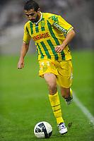 FOOTBALL - FRENCH CHAMPIONSHIP 2010/2011 - L2 - FC NANTES v EVIAN THONON GAILLARD FC - 17/08/2010 - PHOTO PASCAL ALLEE / DPPI - MONSEF ZERKA (FCN)