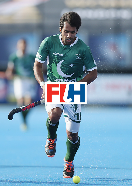 LONDON, ENGLAND - JUNE 15: Muhammad Yaqoob of Pakistan  during the Hero Hockey World League Semi Final match between Netherlands and Pakistan at Lee Valley Hockey and Tennis Centre on June 15, 2017 in London, England.  (Photo by Alex Morton/Getty Images)
