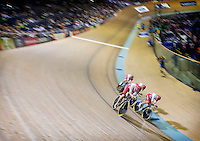 July 24, 2014: Glasgow, Scotland. XX Commonwealth Games. Team England during the Mens Team Pursuit Final from the Sir Chris Hoy Velodrome. England finished 2nd to claim the silver medal.