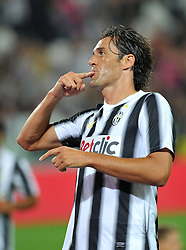 "08.09.2011, Juventus Arena, Turin, ITA, FSP, Juventus Turin vs Nottos County anlässlich der Neueröffnung des Stadion von Juventus Turin, im Bild Esultanza dopo il gol di Luca TONI (Juventus) goal celebrates.Torino 8/9/2011 Stadio ""Juventus stadium"".Football Calcio 2011/2012 Friendly match.Football Calcio Juventus Vs Nottos County. EXPA Pictures © 2011, PhotoCredit: EXPA/ InsideFoto/ Alessandro Sabattini +++++ ATTENTION - FOR AUSTRIA/(AUT), SLOVENIA/(SLO), SERBIA/(SRB), CROATIA/(CRO), SWISS/(SUI) and SWEDEN/(SWE) CLIENT ONLY +++++"