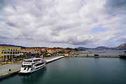 Argostoli Bay, Argostoli, Kefalonia, Ionian Islands, Greece.