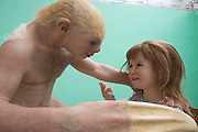 12/07/2015 repro free.One of the Patricia Piccinini' pieces, at the opening her exhibition &quot;Relativity&quot; at the Festival Gallery in the former printing works Gallery   as part of Galway International Arts Festival. The exhibition will run at the gallery for the duration of the festival from July 13-26.  <br /> Photo:Andrew Downes:XPOSURE  <br /> Patricia is one of Australia's most acclaimed artists.