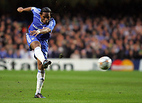 Chelsea FC vs Liverpool FC Champions League S-Final 2nd Leg 30/04/08<br /> Photo Nicky Hayes/Fotosports International<br /> Didier Drogba goal.
