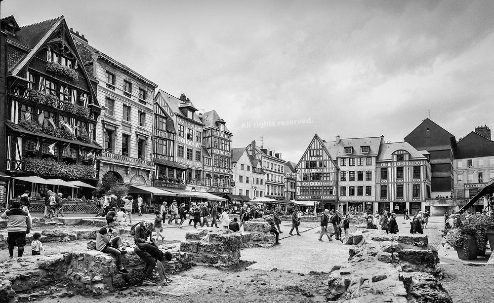 Joan Of Arc Market Square - Rouen, France, July 2017