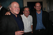 RICHARD NORTON -TAYLOR, NICHOLAS KENT (DIRECTOR) AND PHILIPPE SANDS, Opening night of 'Called To Account' The Tricycle  Theatre. London. 23 April 2007.  -DO NOT ARCHIVE-© Copyright Photograph by Dafydd Jones. 248 Clapham Rd. London SW9 0PZ. Tel 0207 820 0771. www.dafjones.com.