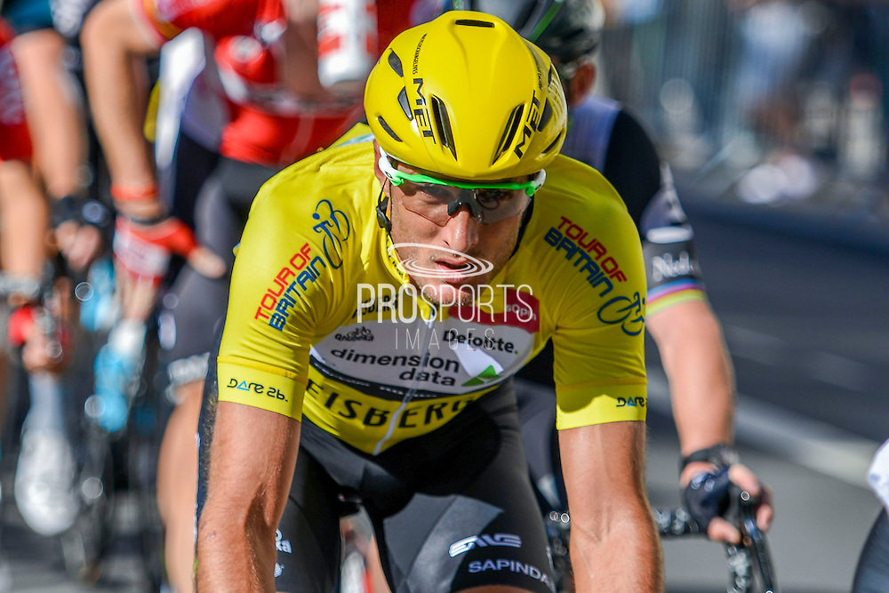 Steve Cummings of Great Britain and Team Dimension Data during the Tour of Britain 2016 stage 8 , London, United Kingdom on 11 September 2016. Photo by Mark Davies.