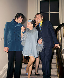 American entertainer Judy Garland and New York businessman Mickey Deans (l) after their wedding at Chelsea Register Office, London. With them (r) is singer Johnny Ray who was the best man.