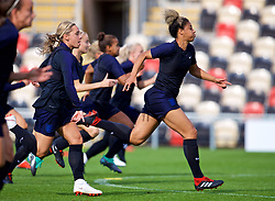 NEWPORT, WALES - Thursday, August 30, 2018: England's Gabrielle George during a training session at Rodney Parade ahead of the final FIFA Women's World Cup 2019 Qualifying Round Group 1 match between Wales and England. (Pic by David Rawcliffe/Propaganda)