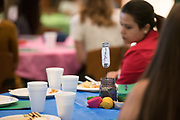 A table marker during the Women's Mentoring Meet and Greet event on Sept. 4, 2018 in Walter Rotunda. Photo by Hannah Ruhoff