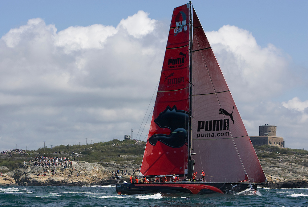 EDITORIAL USE only, please credit Sally Collison/PUMA Ocean Racing.14JUN09 PUMA Ocean Racing at the start of Leg 9 of the Volvo Ocean Race 2008-09, Marstrand Sweden